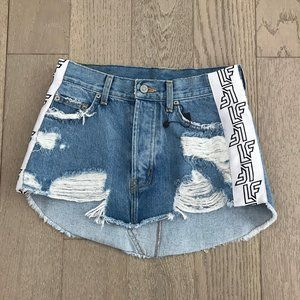 LF The Brand denim jeans distressed Skirt New